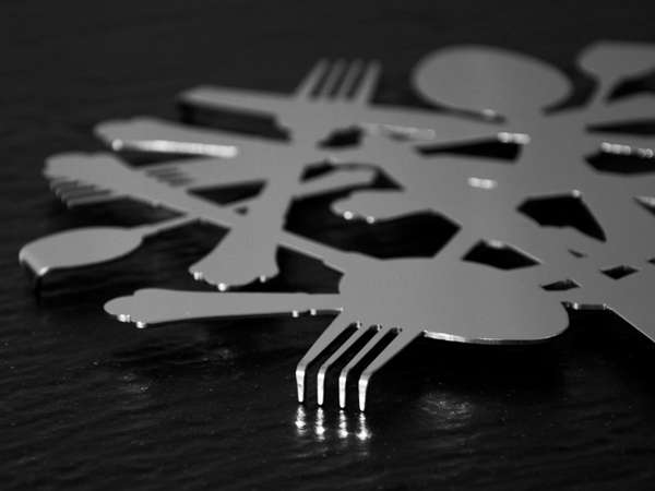 Compressed Cutlery Coasters