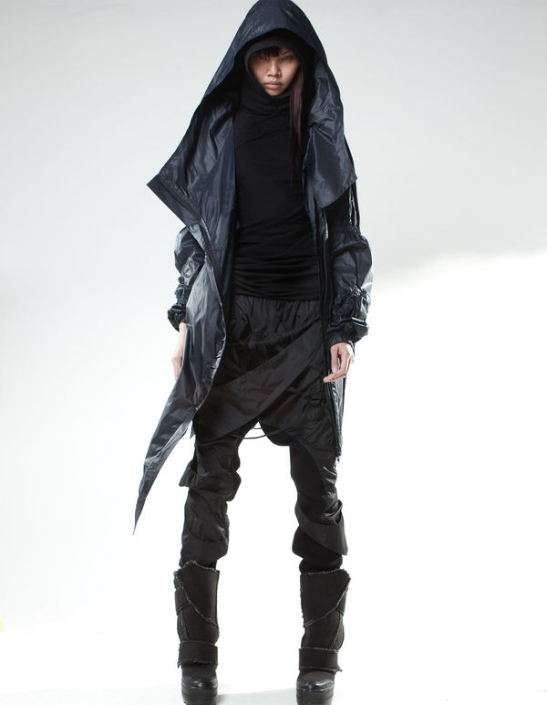 Post Apocalyptic Female Fashion Leather Ensembles