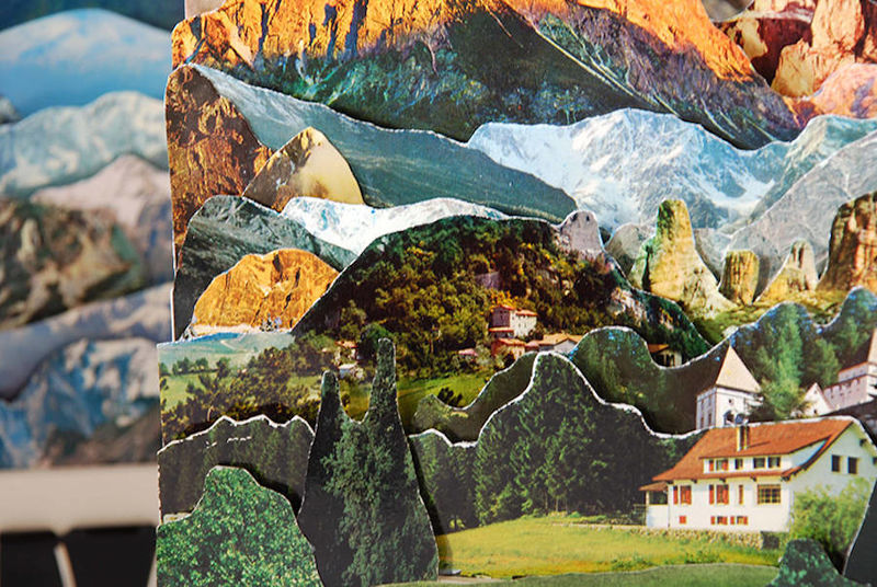 Layered Postcard Landscapes