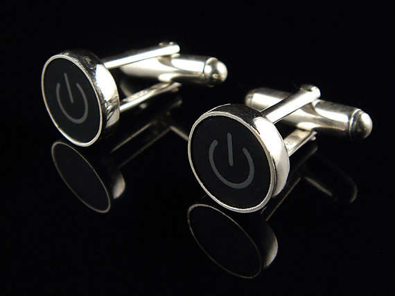 power button cuff links