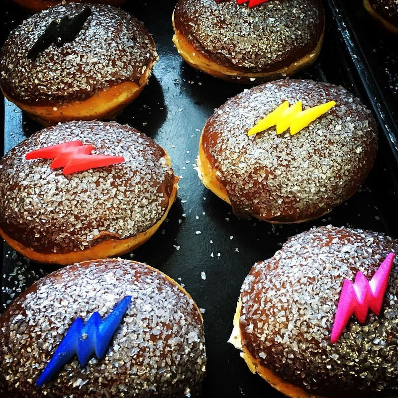 Colorful Cartoon-Inspired Donuts