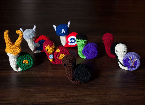 Adorable Comic Snail Plushies