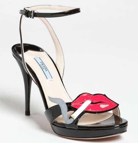 prada smoking lips sandal