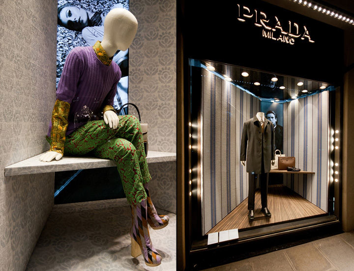 Timber-Clad Couture Displays