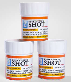 Prescription Shot Glass Set