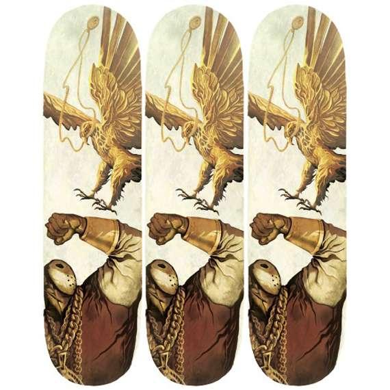 Rapper-Rendered Skate Decks