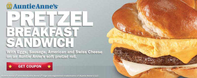 Pretzel-Based Breakfast Sandwiches