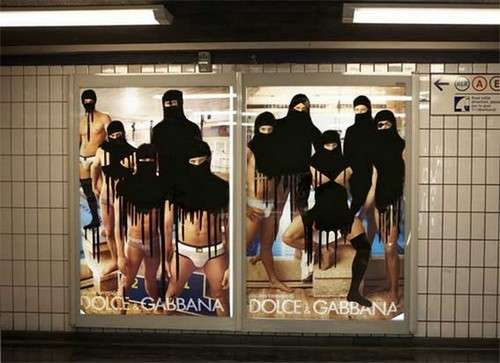 Guerrilla Veiled Ads