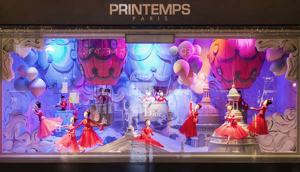 Printemps Christmas Windows