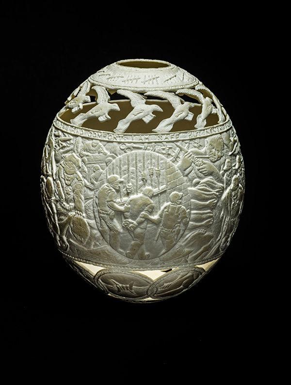 Eggshell Prison Art