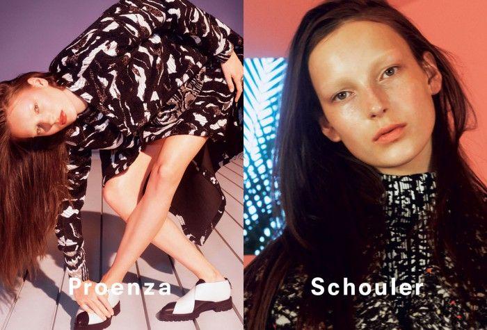 Bleached Brow Fashion Ads