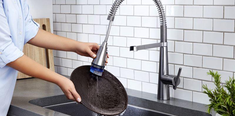Dish-Scrubbing Faucets