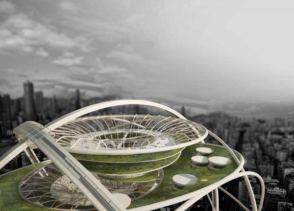 Futuristic Spherical Skyscrapers