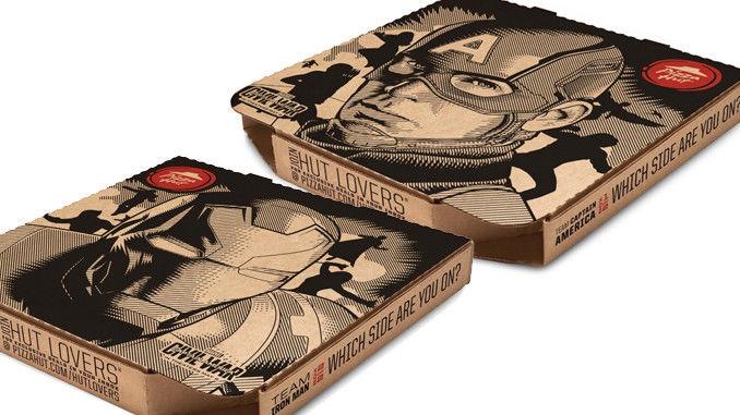 Superhero-Branded Pizza Boxes