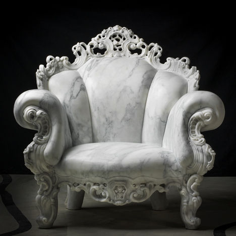 Iconic Carved Marble Chairs