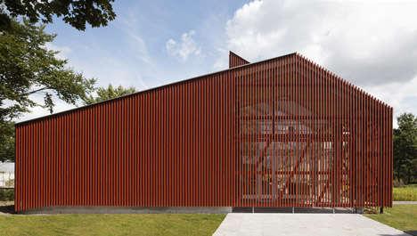 Slatted Barn-Like Buildings