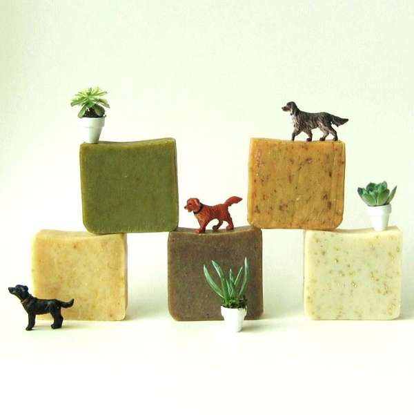 Earth-Colored Soaps
