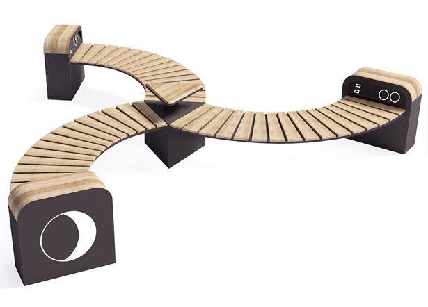 Curvy Modular Public Benches