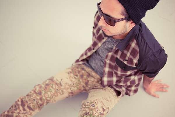 Acid Camouflaged Pants