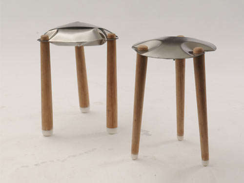 Blow Up Steel Stools