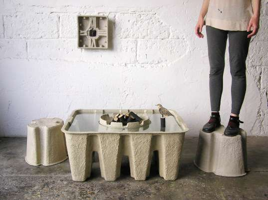 Giant Egg Carton Furniture