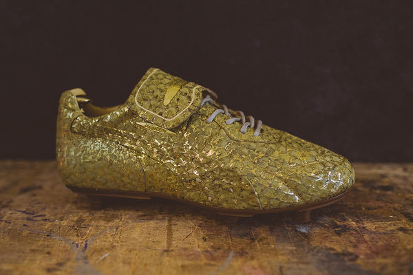 Gilded Soccer Cleats