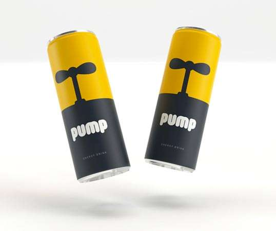 Pump Energy Drink Packaging