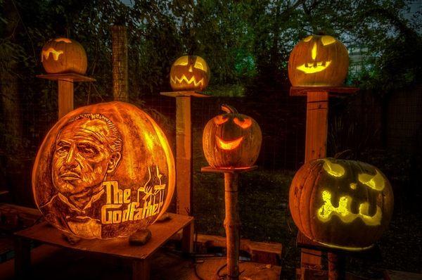 Pop Culture Pumpkin Carvings