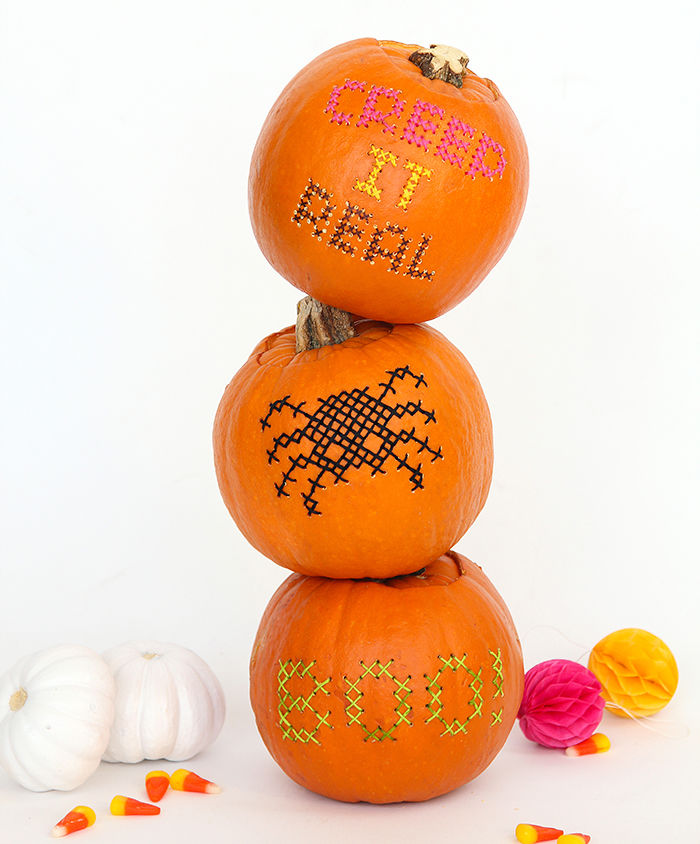 Stitched Pumpkin Designs