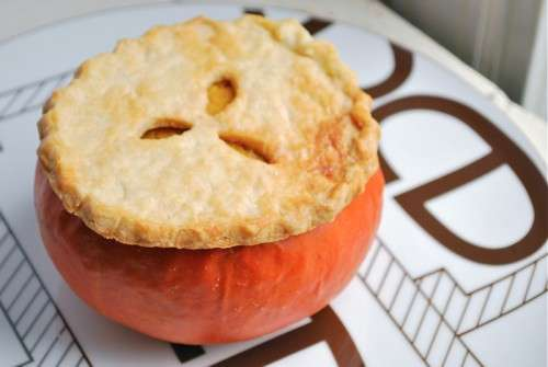 Pumpkin Pie in the Pumpkin