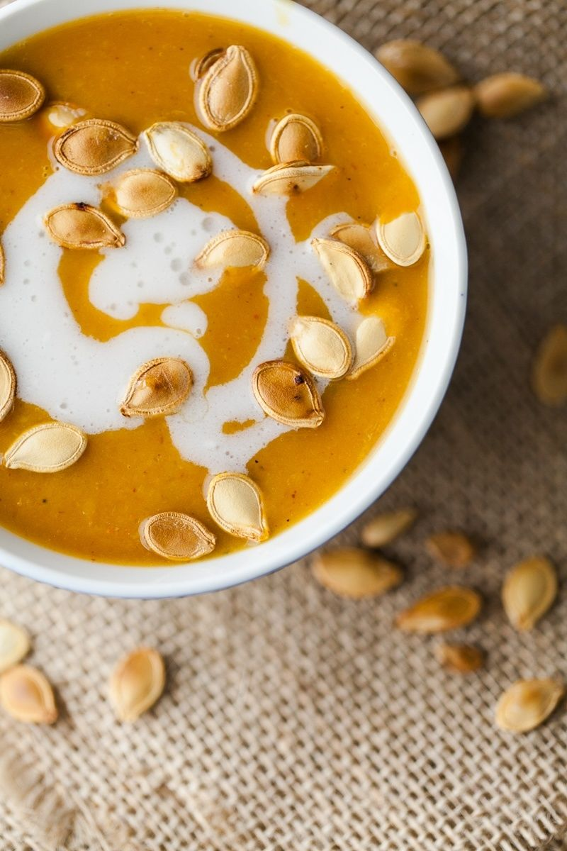 Curried Pumpkin Bisques