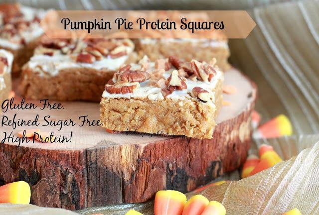 Protein Pumpkin Squares