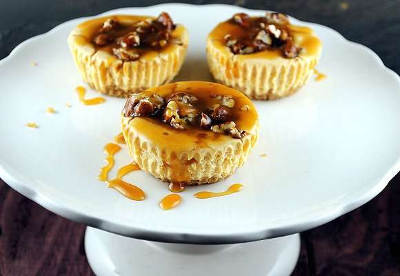 Pumpkin Turtle Cheesecake Cups