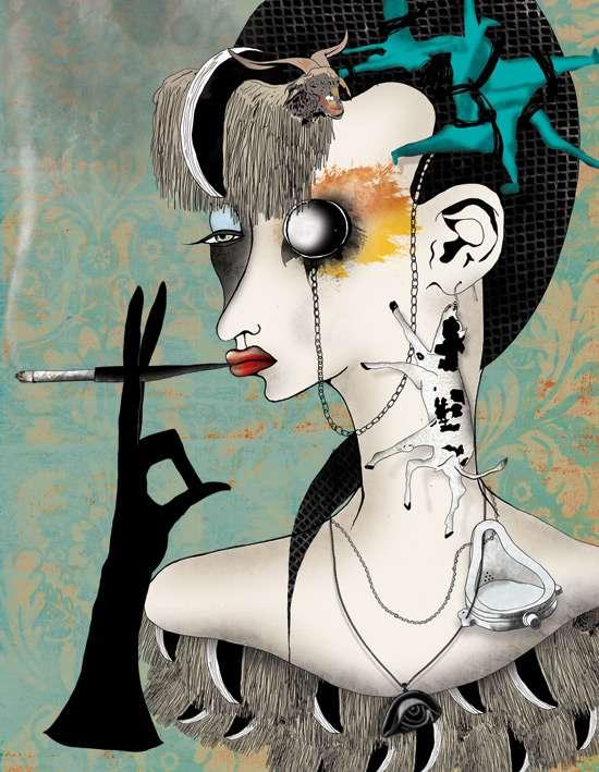 Punk Femme Fatale Posters