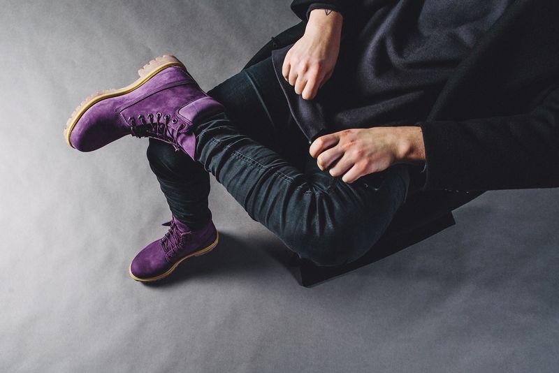 Violet Combat Boots Purple Diamond