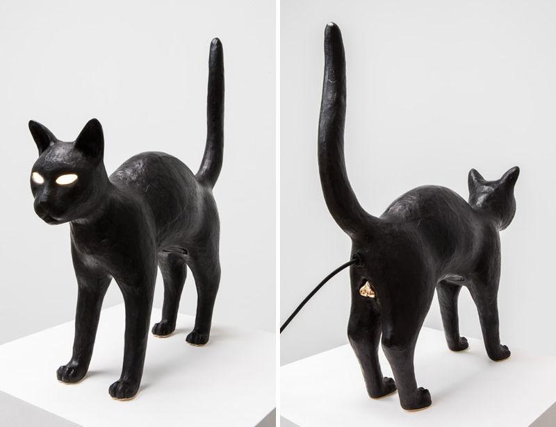 Light-Emitting Cat Sculptures