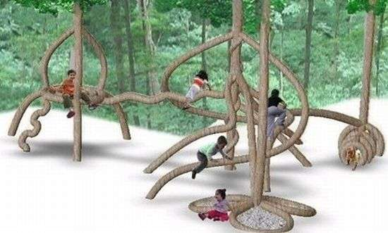 Tree Shaping Plantware Playgrounds Made Of Trees