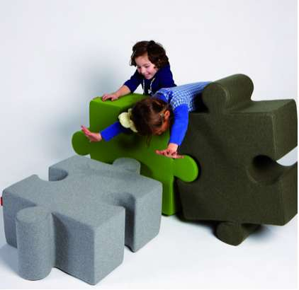 puzzle pouf