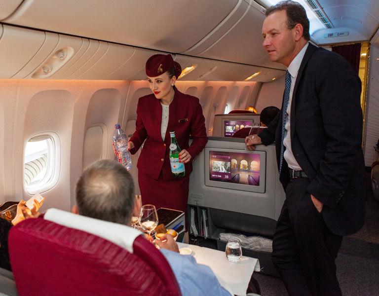 Gourmet Airplane Menus