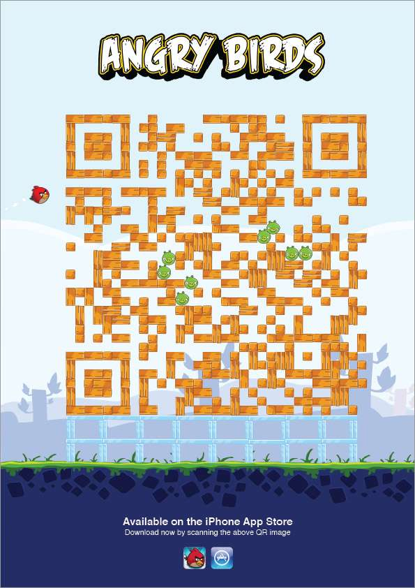 QR iPhone App Ads
