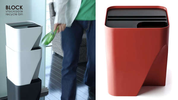 Kitchen Trash And Recycle Bins: Stackable Kitchen Containers : Qualy Bins