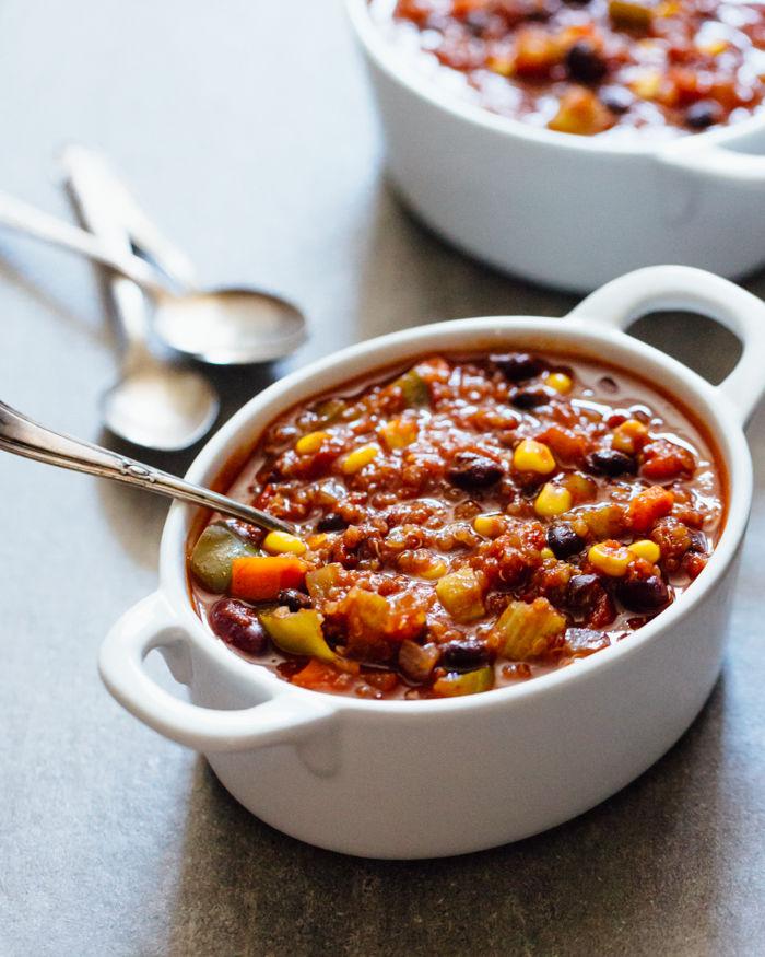 Vegan Quinoa Chilis