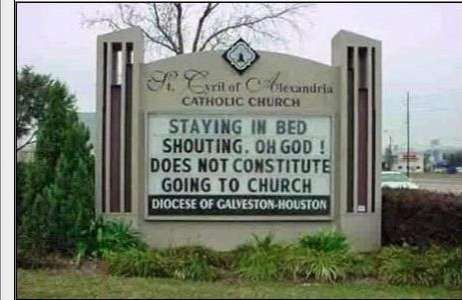 Quirky Church Signs