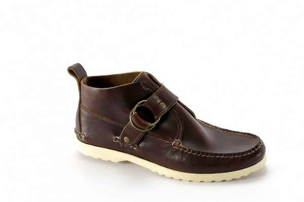 Monk-Strapped Moccasin Boots