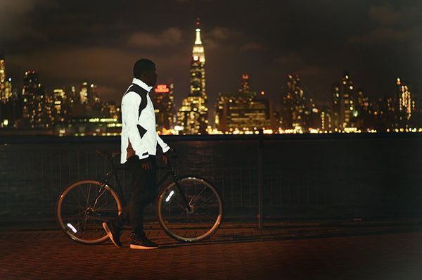 TRON-Inspired Cyclist Coats
