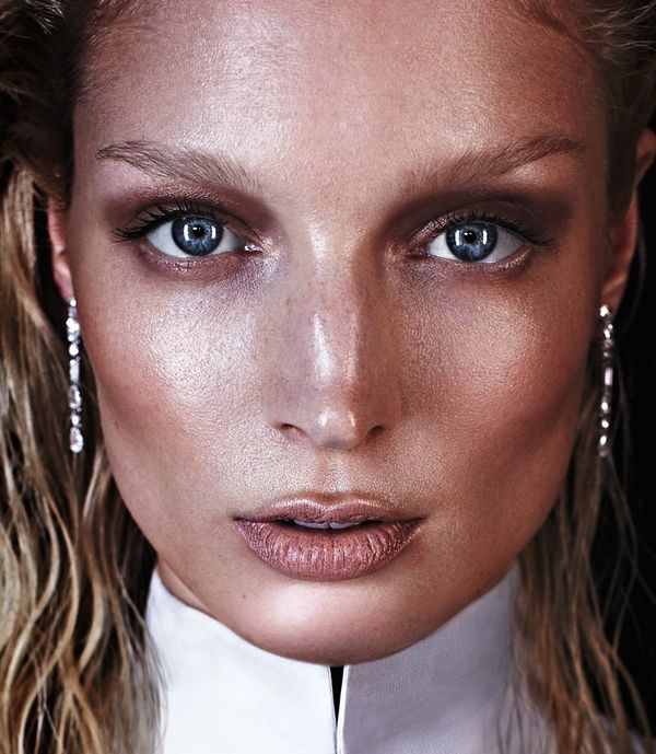Futuristically Bronzed Editorials