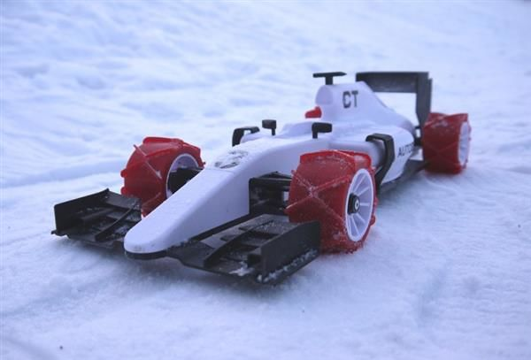 Winterized 3d Printed Tires Race Car Tires