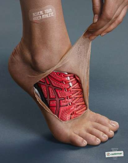 Skin-Peeling Sportswear Ads