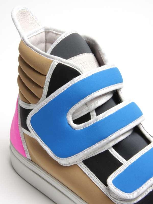 Vibrant Velcro Sneakers