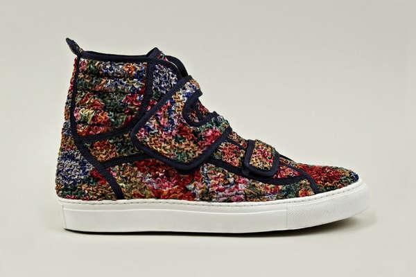 Textured Floral Footwear